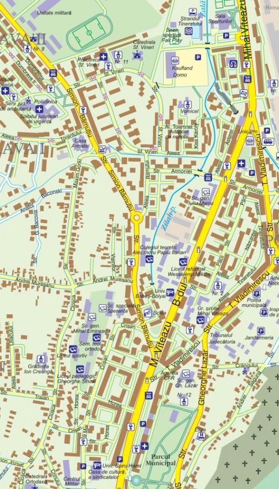 Harta Municipiului Zalau Sj Sipci De Plastic Stiefel Romania