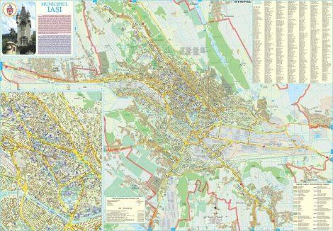 Harta Municipiului Iași IS - șipci de plastic