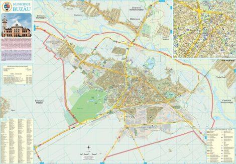 Harta Municipiului Buzău BZ - șipci de plastic