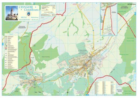 Harta Orașului Cisnadie SB - șipci de lemn