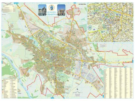 Harta Municipiului Craiova DJ - sipci de plastic
