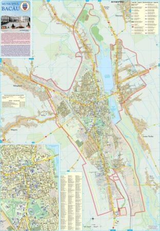 Harta Municipiului Bacău BC - șipci de plastic
