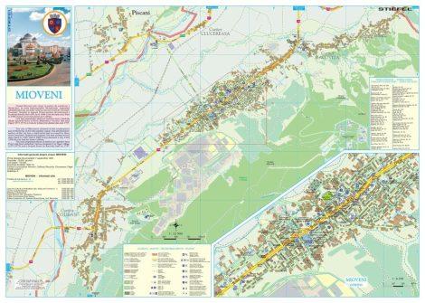 Harta Orașului Mioveni AG - șipci de plastic