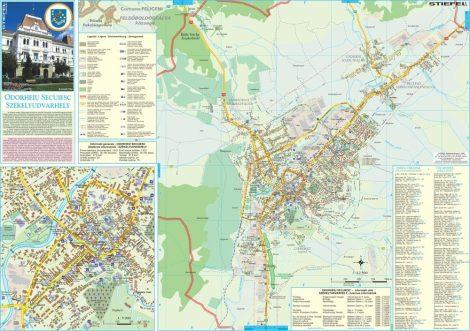 Harta Municipiului Odorheiu Secuiesc HR - sipci de plastic