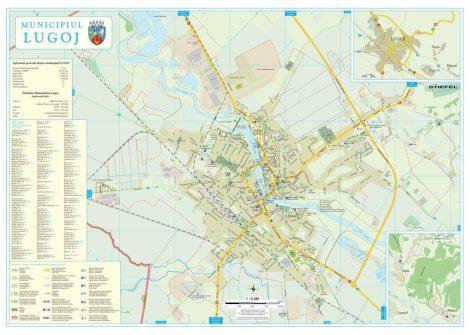 Harta Municipiului Lugoj TM - șipci de lemn