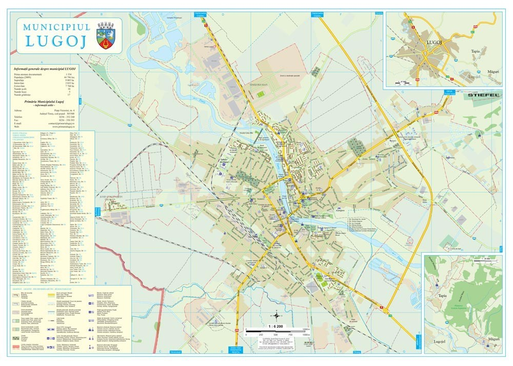 Harta Municipiului Lugoj Tm Print Digital Sipci De Lemn