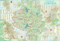 Harta Conurbației Corvina HD 100x70 cm șipci plastic