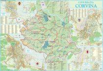 Harta conurbației Corvina HD 100x70 cm, șipci plastic