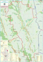 Harta Comunei Colonești OT - șipci de lemn