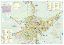 Harta Orașului Mizil PH - șipci de lemn