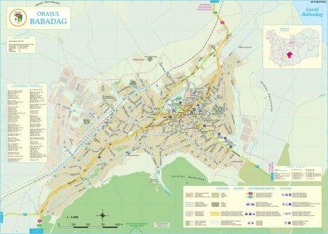 Harta Orașului Babadag TL - șipci de lemn