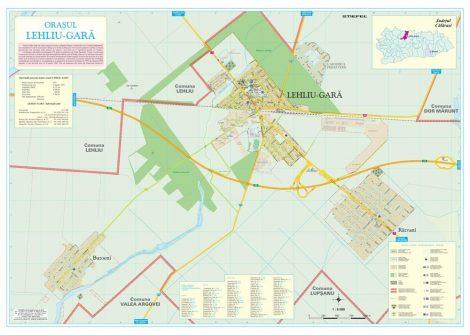 Harta Orașului Lehliu Gară CL - șipci de lemn