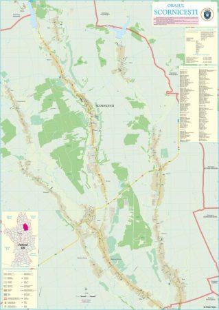 Harta Orașului Scornicești OT - șipci de lemn