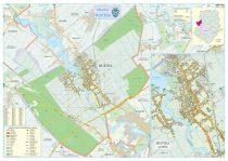 Harta Orașului Buftea IF - șipci de lemn