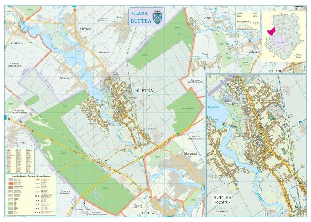 Harta Orasului Buftea If Sipci De Lemn Stiefel Romania