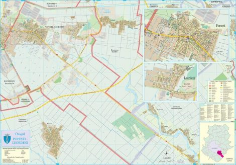Harta Orașului Popești- Leordeni IF - șipci de lemn