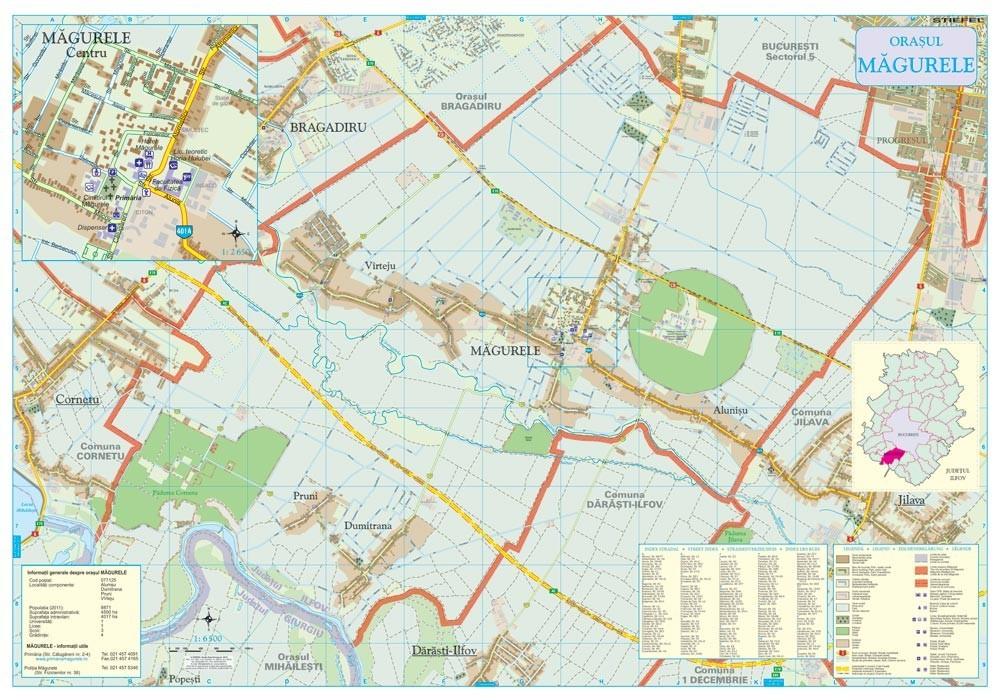 Harta Orasului Magurele If Sipci De Lemn Stiefel Romania