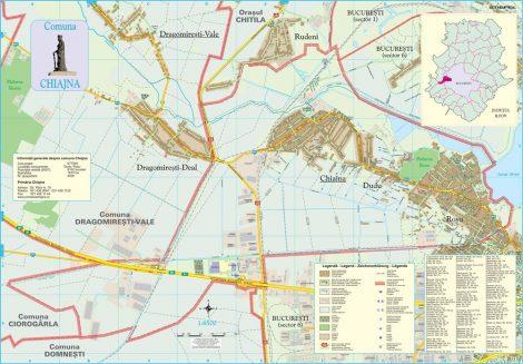 Harta Comunei Chiajna IF - sipci de lemn