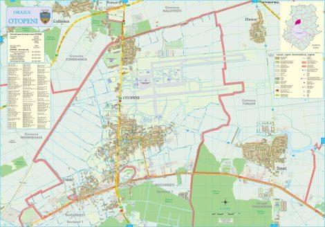 Harta Orașului Otopeni IF - șipci de lemn