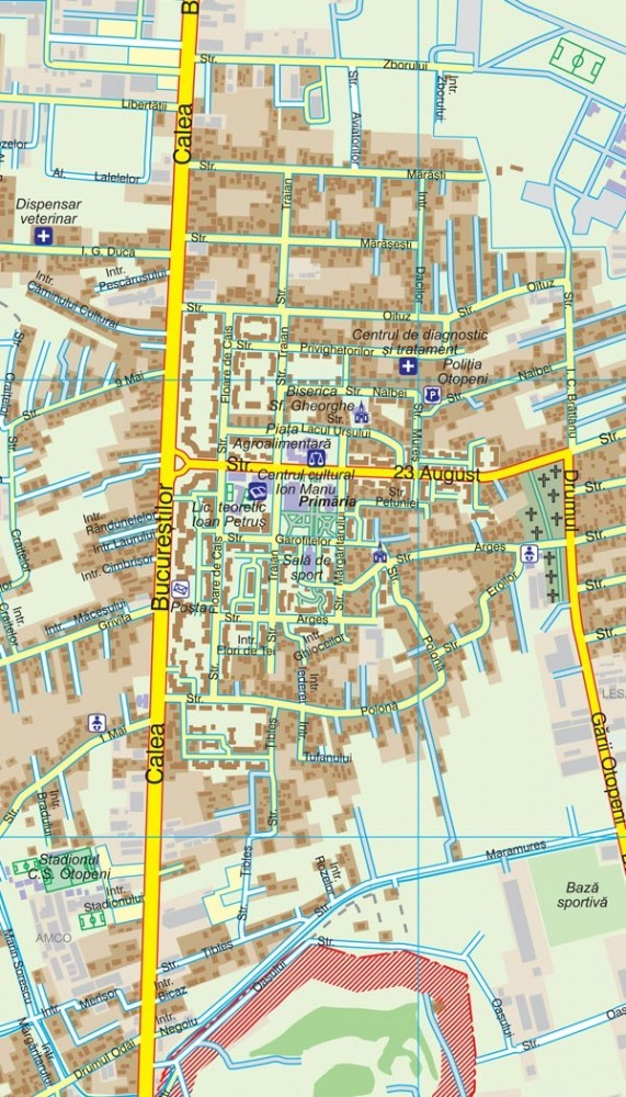 Harta Orasului Otopeni If Sipci De Lemn Stiefel Romania