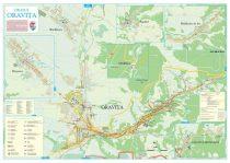 Harta Orașului Oravița CS - șipci de lemn