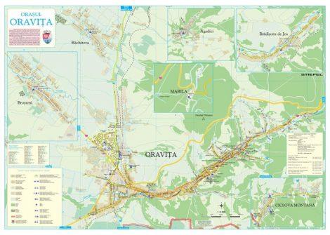 Harta Orasului Oravita CS - sipci de lemn