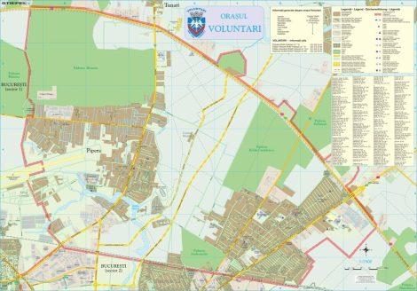 Harta Orașului Voluntari IF - șipci de lemn