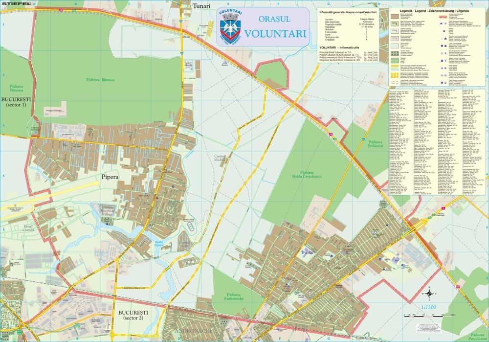 Harta Orasului Voluntari If Sipci De Lemn Stiefel Romania