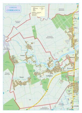 Harta Comunei Corbeanca IF - șipci de lemn