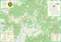 Harta Comunei Certeju de Sus HD - sipci de lemn