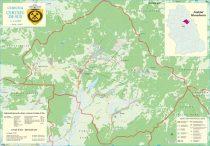 Harta Comunei Certeju de Sus HD - șipci de lemn