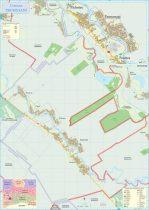 Harta Comunei Frumușani IF - șipci de lemn