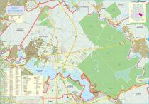 Harta Orașului Pantelimon IF - șipci de lemn