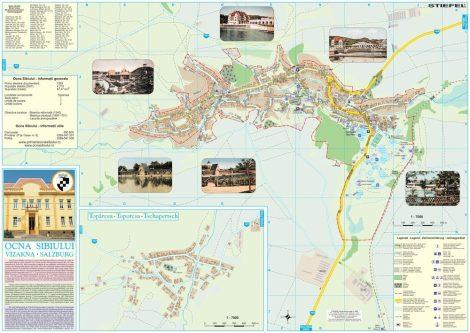Harta Orașului Ocna Sibiului SB - șipci de lemn