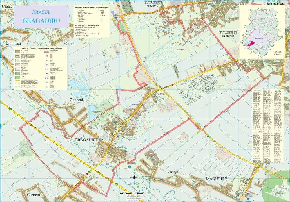 Harta Orasului Bragadiru If Sipci De Lemn Stiefel Romania