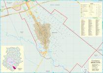 Harta Comunei Berceni IF - sipci de lemn