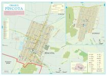 Harta Orasului Pancota AR - sipci de lemn