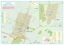 Harta Orașului Pâncota AR - șipci de lemn