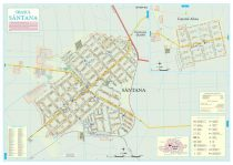 Harta Orașului Sântana AR - șipci de lemn