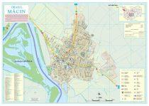 Harta Orasului Macin TL - sipci de lemn