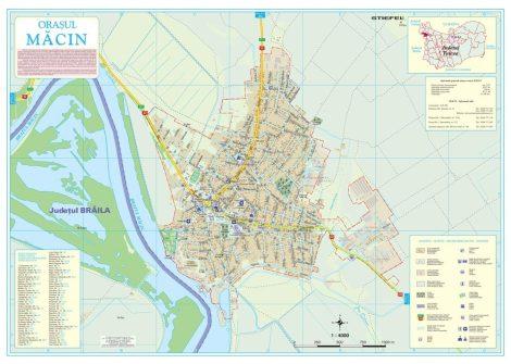 Harta Orașului Macin TL - șipci de lemn