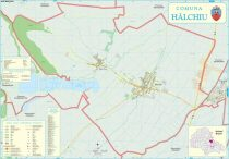 Harta Comunei Halchiu BV - șipci de lemn
