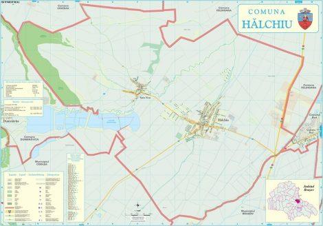 Harta Comunei Halchiu BV - sipci de lemn