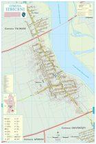 Harta Comunei Izbiceni OT - șipci de lemn