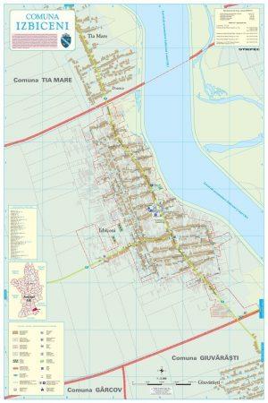 Harta Comunei Izbiceni OT - sipci de lemn