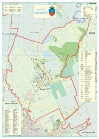 Harta Comunei Sanpetru BV - șipci de lemn