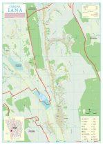 Harta Comunei Iana VS - șipci de lemn