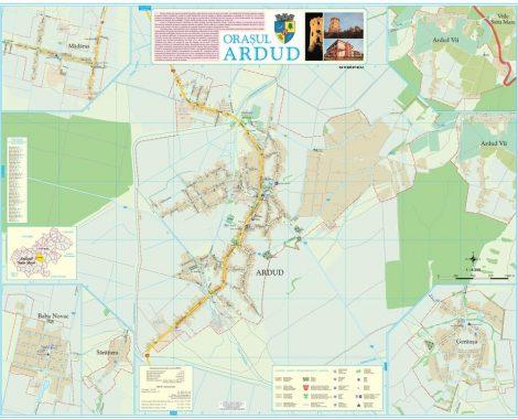 Harta Orașului Ardud SM - șipci de lemn
