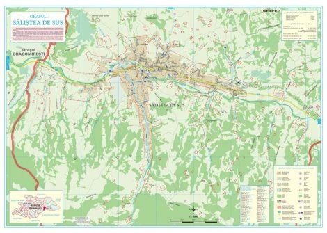 Harta Orașului Săliștea de Sus MM - șipci de lemn