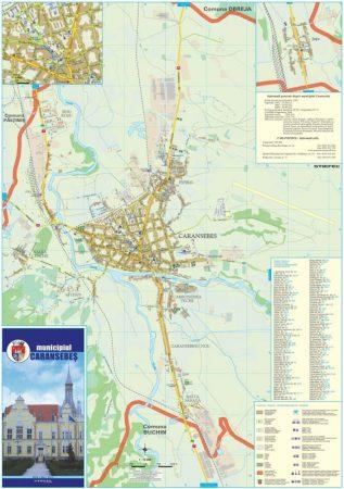 Harta Municipiului Caransebes CS (print digital) - sipci de lemn